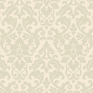 Velvet Damask Green and Cream Wallpaper
