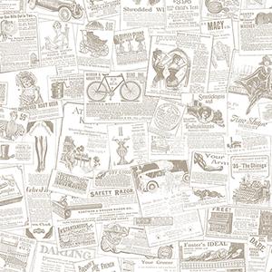 Beige Newspaper Wallpaper