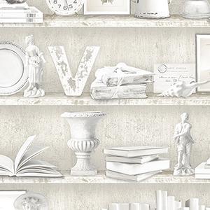 Beige Curio Cabinet Wallpaper