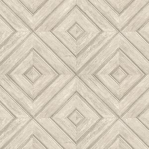 Beige and Tan Wood Tile Wallpaper
