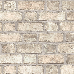 Farmhouse Brick Brown Wallpaper