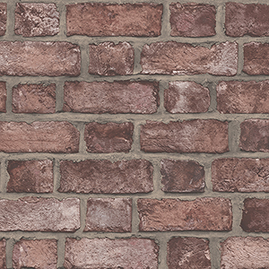 Farmhouse Brick Red Wallpaper