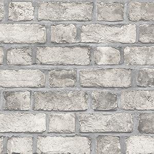 Farmhouse Brick Taupe Wallpaper