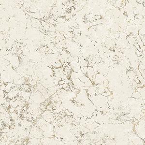 Minimal Marble Cream, Light Brown and Metallic Gold Wallpaper