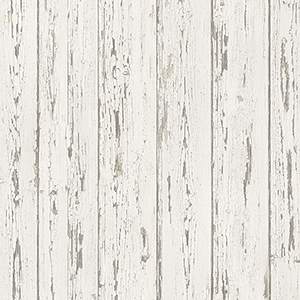 Beige and Antique White Shiplap Wallpaper