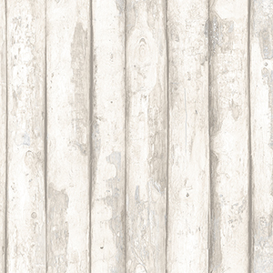 Log Cabin Beige Wood Wallpaper