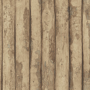 Log Cabin Brown and Raw Sienna Wood Wallpaper