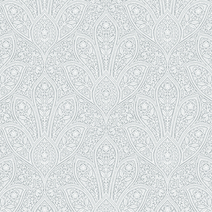 Distressed Paisley Light Blue Wallpaper