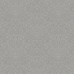 Distressed Paisley Dark Grey Wallpaper