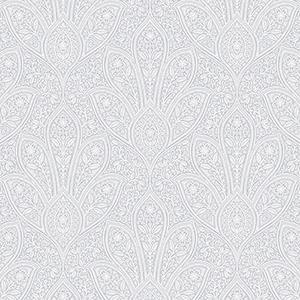Distressed Paisley Light Grey Wallpaper
