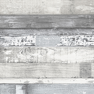 Grey and Blue Beachwood Wallpaper