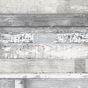 Grey and Blue Beachwood Wallpaper