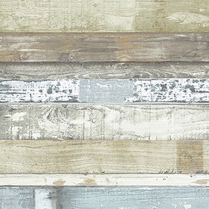 Green, Blue and Brown Beachwood Wallpaper