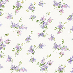 Lilac Sprigs Purple, Pink and Green Wallpaper