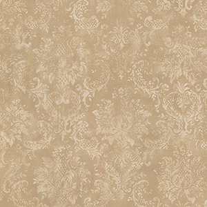 Tan and Brown Canvas Damask Wallpaper