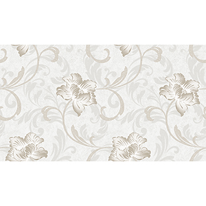 Grey and Taupe Floral Wallpaper