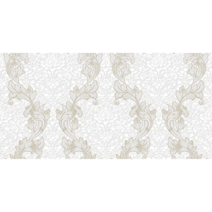 Taupe and Cream Damask Wallpaper