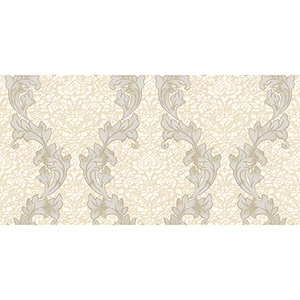 Beige and Taupe Damask Wallpaper