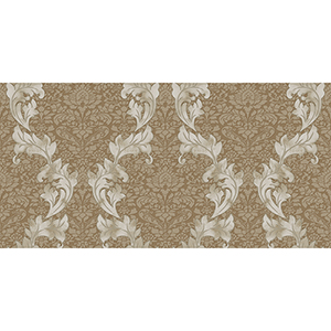 Taupe, Cream and White Damask Wallpaper