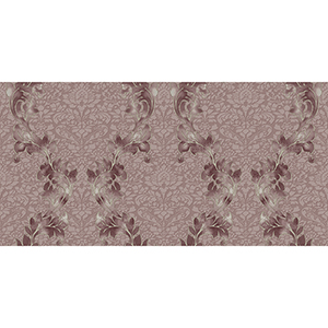 Purple and Cream Damask Wallpaper