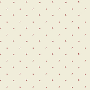Leaf Spot Beige and Red Wallpaper