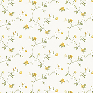 Mini Sunflower Trail Yellow and Green Wallpaper