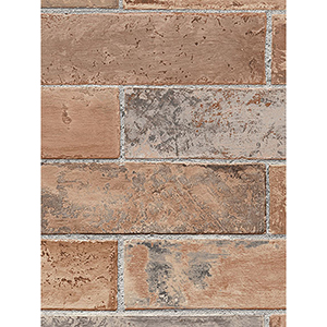 Red and Brown Swiss Brick Wallpaper
