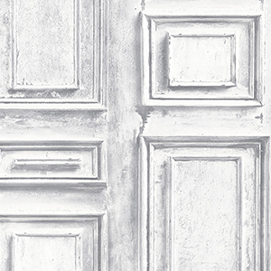 White and Grey Wood Panel Wallpaper