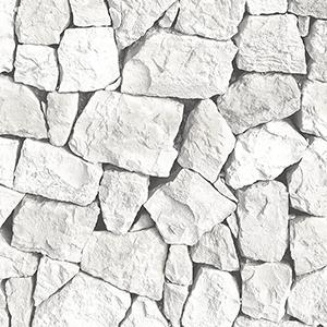 Grey and White Spanish Stone Wallpaper
