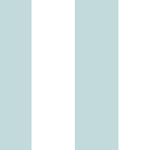 Turquoise and White 5.25 In. Stripe Wallpaper