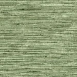 Grasscloth Green Wallpaper