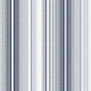 Organic Stripe Navy and White Wallpaper