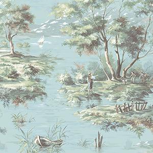 La Campagne Turquoise Wallpaper