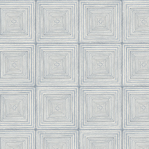 Parquet Blue and Ivory Wallpaper