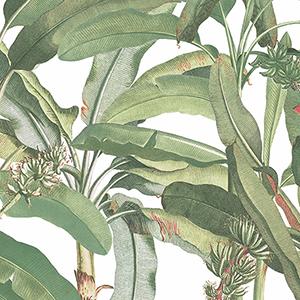 Green Polynesian Leaves Wallpaper