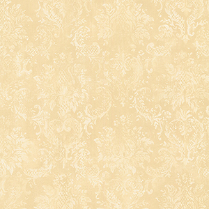 Canvas Damask Cream and Beige Wallpaper