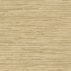 Grasscloth Ochre, Cream and Beige Wallpaper