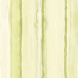 Beach Stripe Green and Yellow Wallpaper
