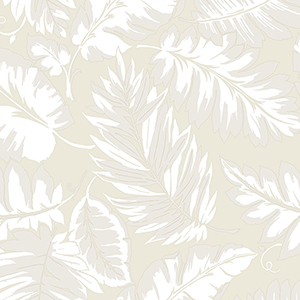 Beige Palm Leaf Wallpaper