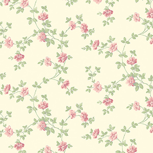 Historic Rose Trail Cream and Pink Wallpaper