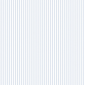 Tailored Stripe Positive Blue and White Wallpaper