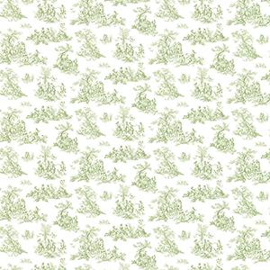 Small Toile Green Wallpaper