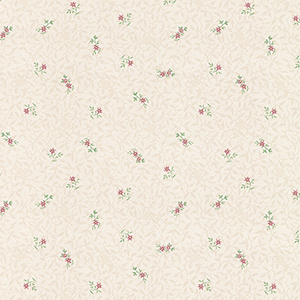 Isabella Light Beige and Pink Floral Wallpaper