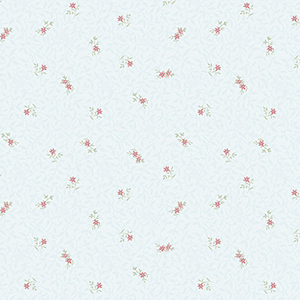 Isabella Teal and Pink Floral Wallpaper