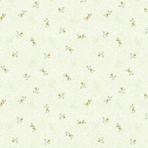 Isabella Green and Yellow Floral Wallpaper