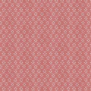 Red Paisley Print Wallpaper