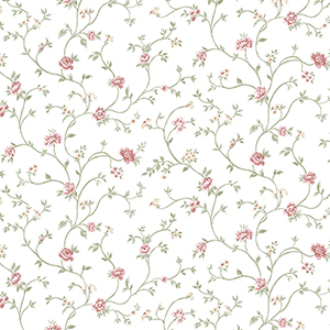 Royal Trail Pink and Green Floral Wallpaper