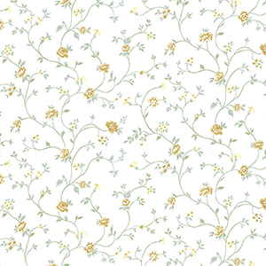 Royal Trail Green and Yellow Floral Wallpaper