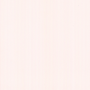 Ticking Stripe Cream and Pink Wallpaper