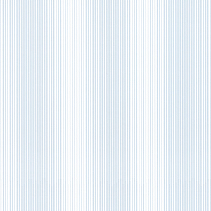 Ticking Stripe Blue and White Wallpaper
